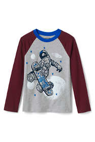 Boys Husky Raglan Graphic Tee Shirt