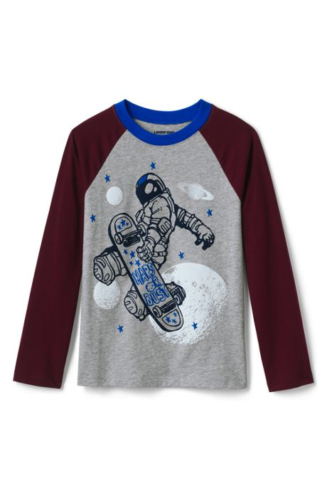 Toddler Boys Raglan Graphic Tee Shirt