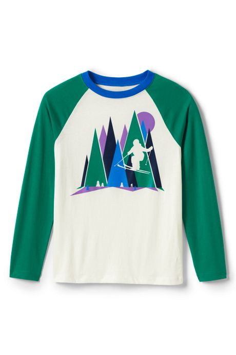 Little Boys Raglan Graphic Tee Shirt