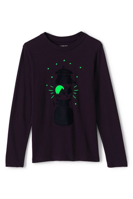 Toddler Boys Glow In the Dark Graphic Tee Shirt