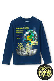 Little Boys Glow In the Dark Graphic Tee Shirt