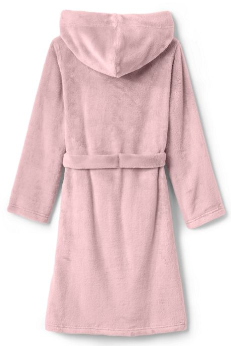Kids Hooded Fleece Solid Robe