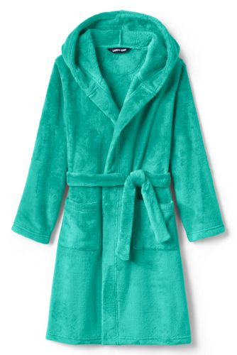 Kids Hooded Fleece Solid Robe by Lands' End