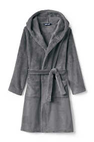 Toddler Kids Hooded Fleece Solid Robe
