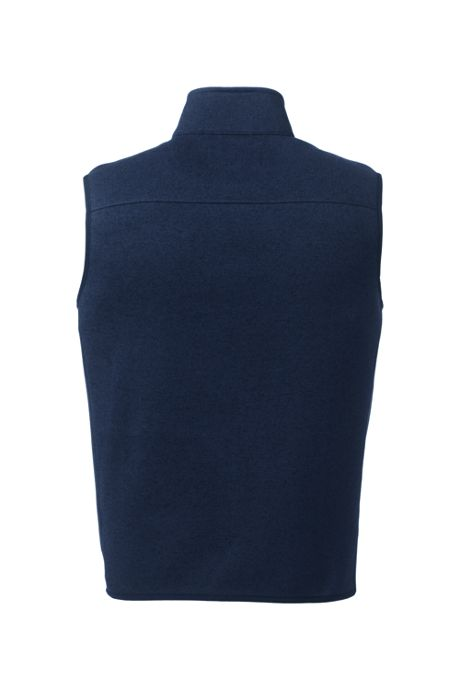 Men's Tall Sweater Fleece Vest