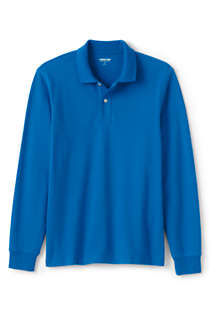 Men's Tall Comfort First Long Sleeve Solid Mesh Polo, Front