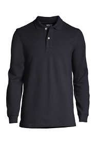 Men's Tall Comfort First Long Sleeve Solid Mesh Polo