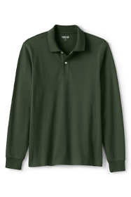 Men's Big and Tall Comfort First Long Sleeve Solid Mesh Polo
