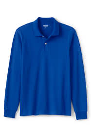 Men's Comfort First Long Sleeve Solid Mesh Polo