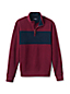 Men's Brushed Rib Half Zip Jumper, Chest Stripe