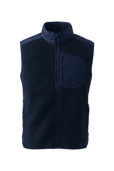 Men's Hybrid Sherpa Fleece Vest