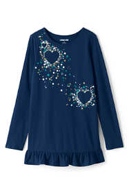 Girls Long Sleeve Graphic Tunic Top