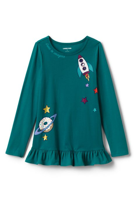 Toddler Girls Long Sleeve Graphic Tunic Top