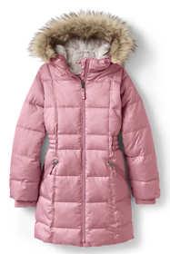 Little Girls Winter Fleece Lined Down Alternative ThermoPlume Coat