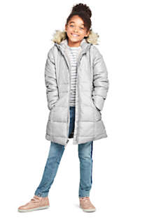 Girls Winter Fleece Lined Down Alternative ThermoPlume Coat, Unknown