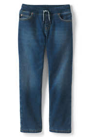Little Boys Lined Iron Knee Stretch Pull On Jeans