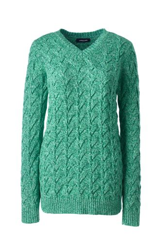 Pull Drifter Col V Pur Coton, Femme Stature Standard