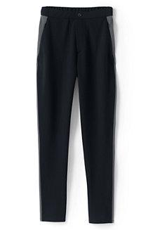 Women's Mid Rise Ponte Jersey Trousers, Side Stripe