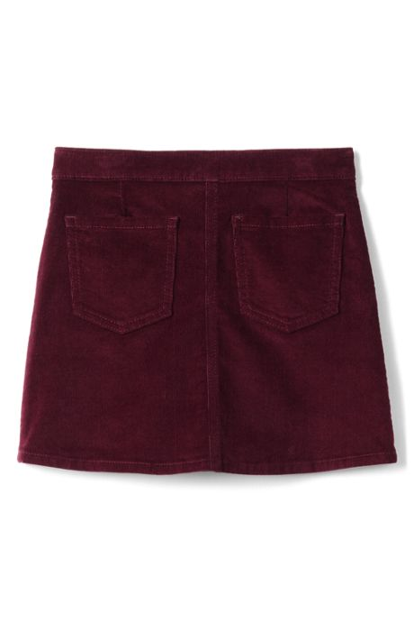 Girls Plus Size Corduroy Skirt