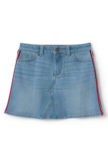 Girls' Side-Stripe Denim Skirt