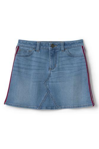 Jeansrock mit Seitenstreifen für Mädchen