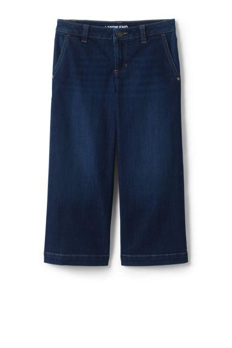 Girls Wide Leg Cropped Jean
