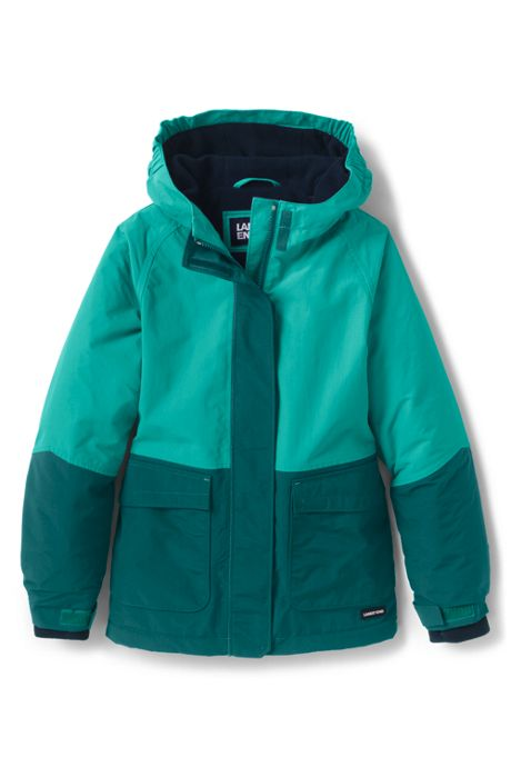 School Uniform Little Girls Squall Waterproof Winter Jacket