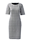 Women's Patterned Ponte Jersey Shift Dress