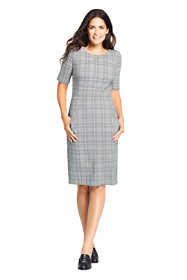 Women's Petite Elbow Sleeve Print Ponte Sheath Dress