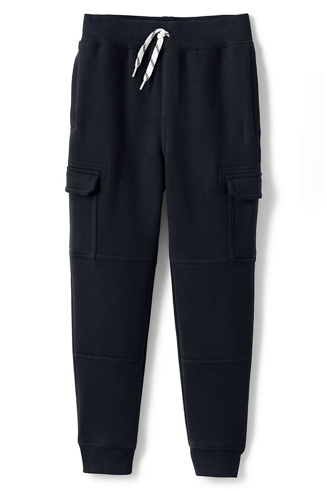 Boys Iron Knee Cargo Jogger Sweatpants, Front