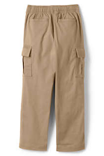 Boys Slim Iron Knee Stretch Pull On Cargo Pants, Back