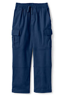 School Uniform Boys Husky Iron Knee Stretch Pull On Cargo Pants, Front