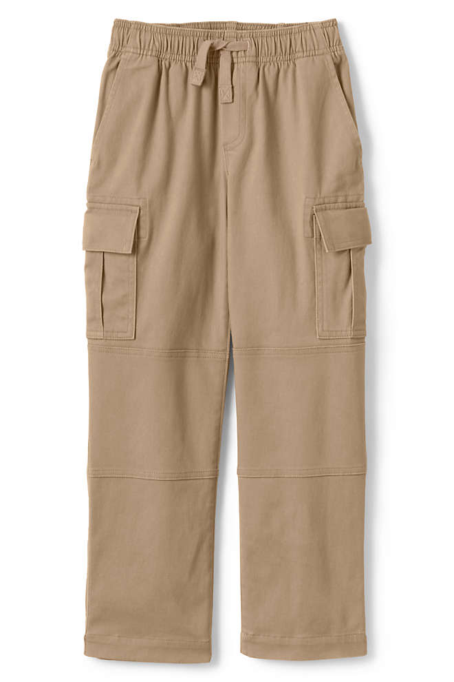 Boys Slim Iron Knee Stretch Pull On Cargo Pants, Front