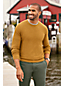 Men's Textured Cotton/Cashmere Crew Neck Jumper