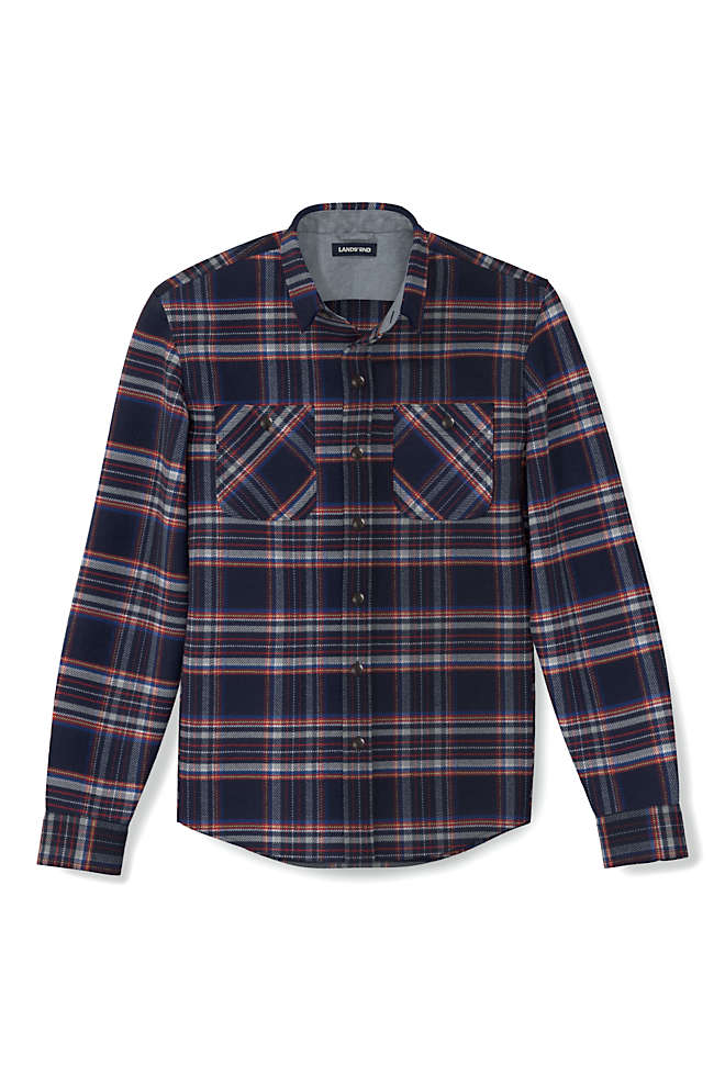 Men's Traditional Fit Rugged Flannel Shirt, alternative image