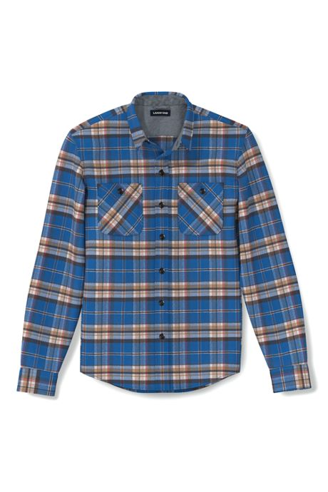 Men's Tall Traditional Fit Rugged Flannel Shirt