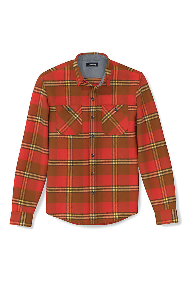 Men's Tall Traditional Fit Rugged Flannel Shirt, alternative image