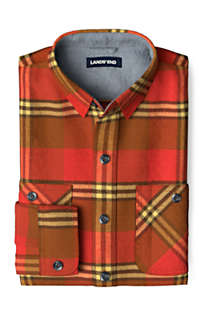 Men's Tall Traditional Fit Rugged Flannel Shirt, Front