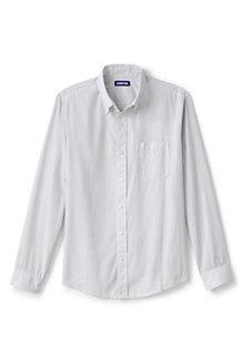 Langarm-Popelinhemd mit Muster-Print für Herren, Classic Fit