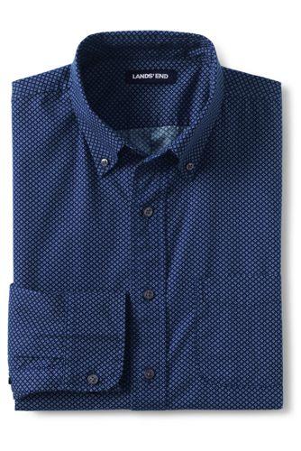 Men's Traditional Fit Printed Poplin Shirt