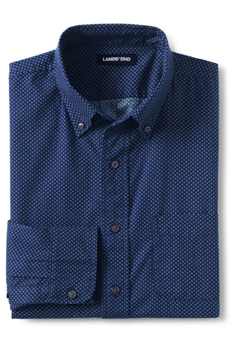 Men's Traditional Fit Printed Poplin Shirt