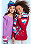 Little Girls' Graphic Gathered Shoulder Tunic Top