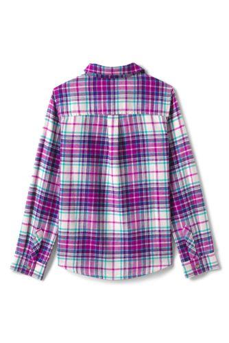 Girls Plus Size Flannel Shirt