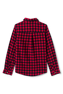 Girls Plus Size Flannel Shirt, Back