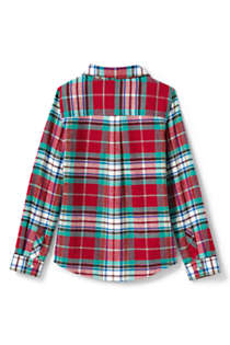Little Girls Flannel Shirt, Back