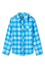 Girls Plus Size Flannel Shirt