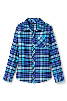 Girls' Long Sleeve Flannel Shirt