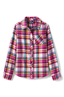 Girls' Long Sleeve Flannel Shirt