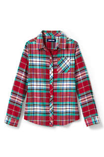 Little Girls Flannel Shirt, Front