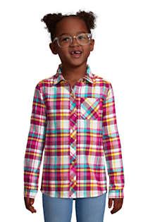 Girls Plus Size Flannel Shirt, Front